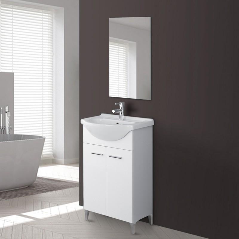 Mobile Bagno 56 cm Bianco lucido