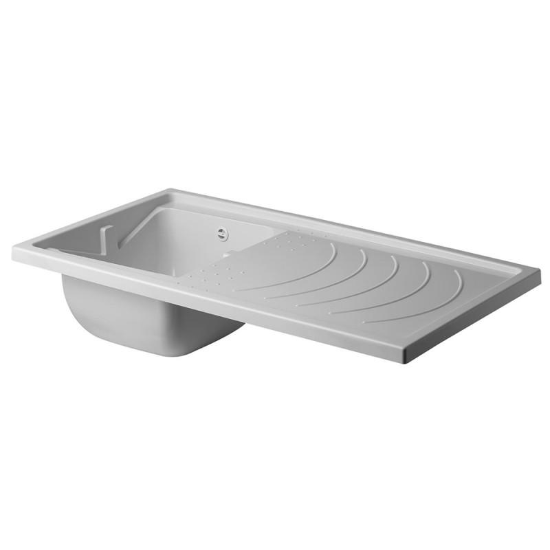 Vasca Lavatoio Da Esterno.Vasca Lavatoio Coprilavatrice Reversibile 109x60 Polipropilene Bianco