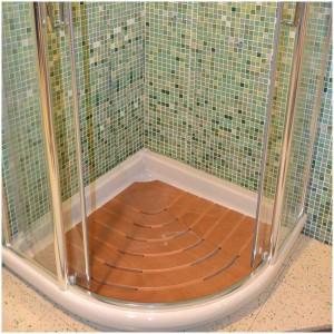 tappeto legno antiscivolo per piatto doccia angolare 80