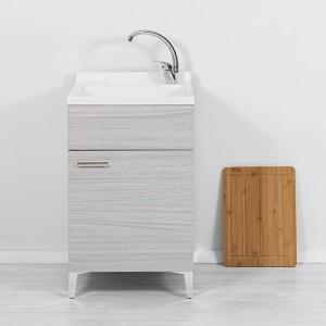 mobile lavatoio larghezza 50 in legno grigio