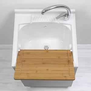 mobile lavapanni grigio da interno 50 cm con asse