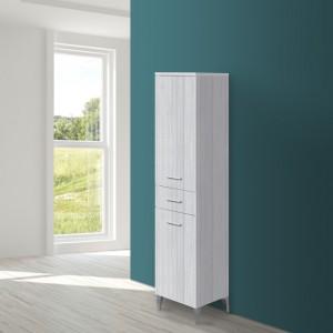 Mobile alto da bagno grigio L.35 cm moderno