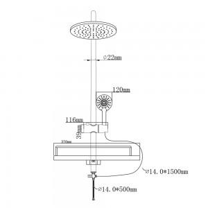 Istruzioni per Montare la colonna doccia in Acciaio Cromato