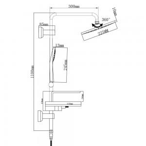 Istruzioni per Montare la colonna doccia in Acciaio Cromato al Muro