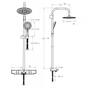 Istruzioni per montare la Colonna Doccia cromo h.105 cm