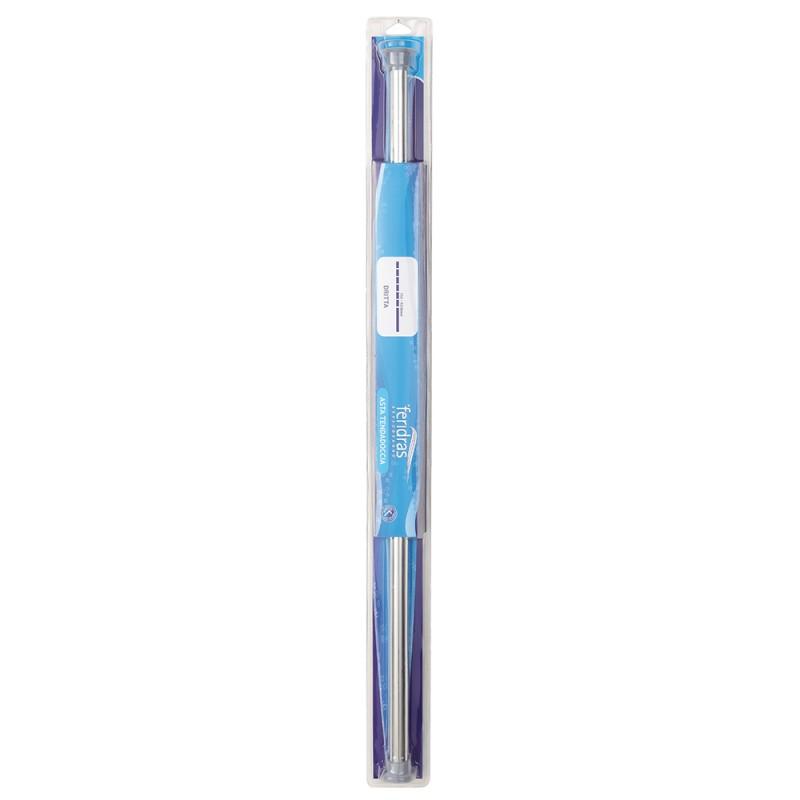 Asta per Tenda Doccia Regolabile in Acciaio Cromato da 75 a 125 cm
