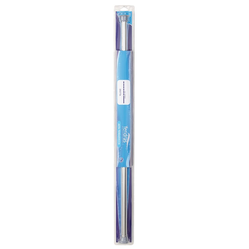 Asta Tenda Doccia Regolabile Dritta cromo da 75 a 125 cm