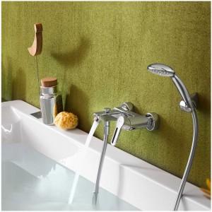 Inbagno Rubinetto vasca monocomando con set doccia Nobili serie New art. RD00110CR