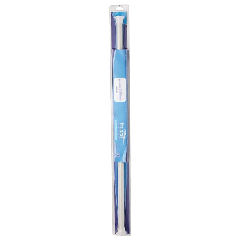 Asta Tenda Doccia Regolabile Dritta D: 22 mm in Acciaio Cromato Bianca