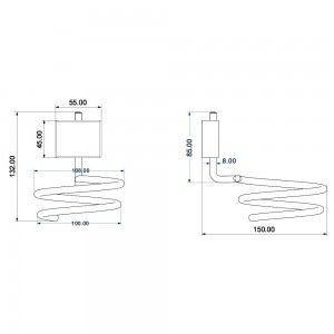 Porta phon in acciaio cromo con doppia modalità di fissaggio