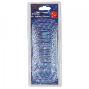 set anelli per tendina doccia