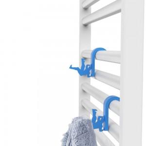 Appendino Azzurro in Plastica Universale per Scaldasalviette