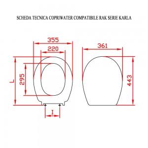 Schede Tecniche Copriwater Ceramiche Rak Serie Karla