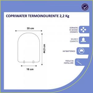 Copriwater POZZI GINORI per wc modello LINEA, QUINTA e SELNOVA 3 è BIANCO