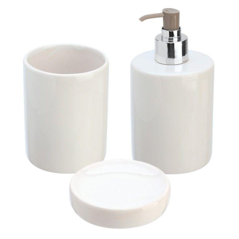 Set accessori d'appoggio in ceramica bianco Feridras - 1