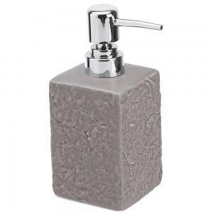 Dispenser Sapone in Ceramica Grigio Linea Petra