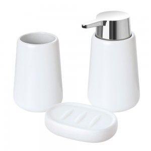 set accessori bagno d'appoggio bianco feridras