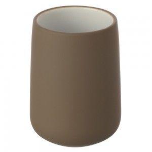 porta spazzolini in ceramica tortora