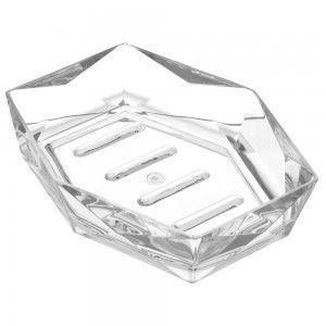 Portasapone in ABS Bianco Linea Diamante