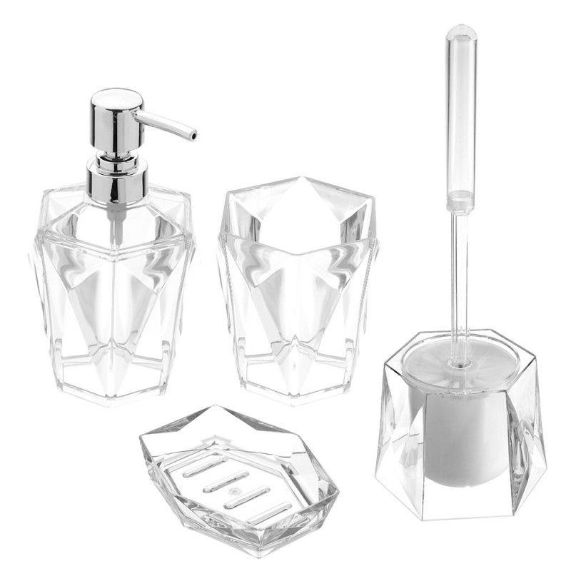 Set accessori d'appoggio bagno feridras diamante