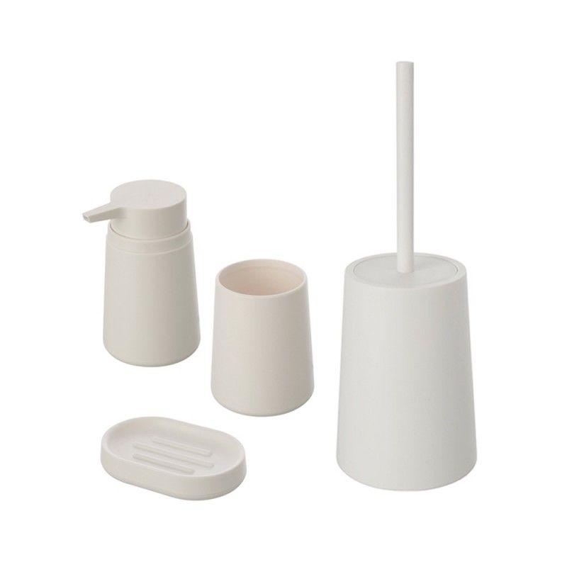 Set accessori bagno d'appoggio in plastica feridras pop