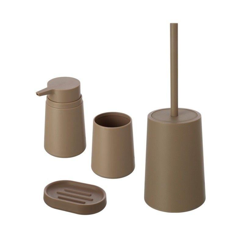 set accessori bagno d'appoggio feridras tortora