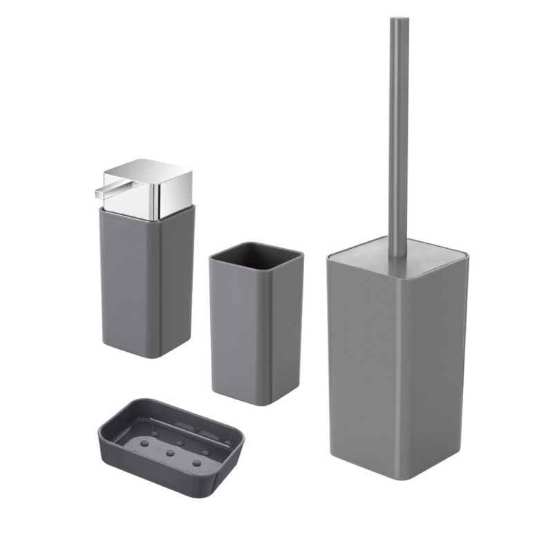 Set Accessori Bagno D'appoggio Basic grigio feridras plastica