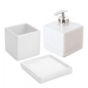 set accessori d'appoggio in ceramica lucida feridras cuba