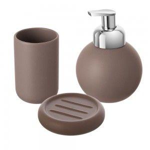 set accessori bagno d'appoggio ceramica feridras oslo