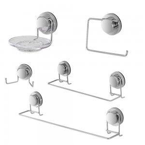 Set accessori a muro con ventosa dinamik feridras