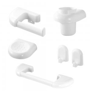 set accessori bagno a muro in abs plastica