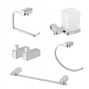 set accessori bagno a muro cromati feridras unica
