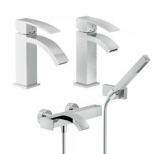set rubinetti Nobili serie Ray vasca, bidet, lavabo