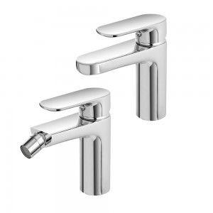 set rubinetti lavabo bidet moderno cromo