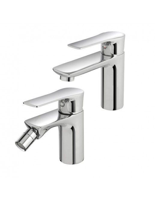 Set rubinetti Lavabo e Bidet ottone cromato