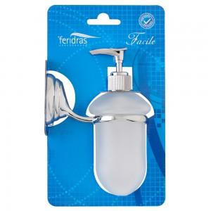 Dispenser sapone liquido cromo e vetro