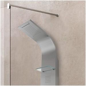Colonna doccia acciaio inox satinata 4 funzioni con doccetta