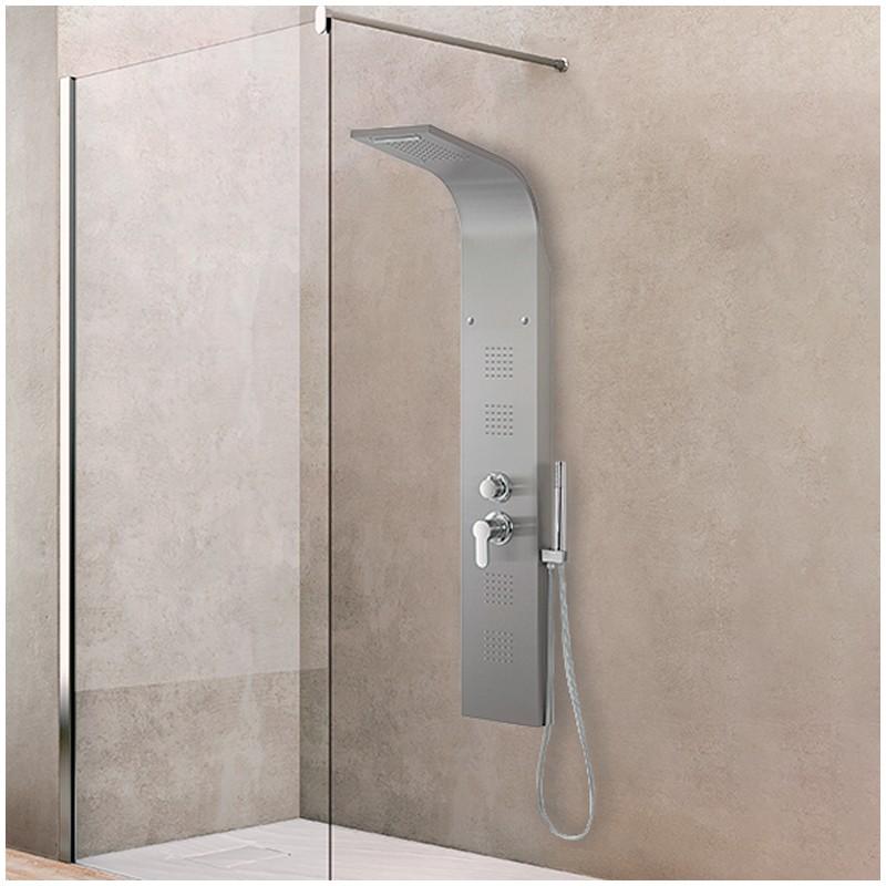 Colonna doccia acciaio inox satinata 4 funzioni