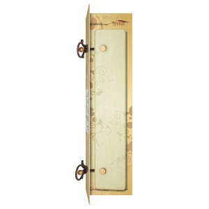 Mensola in ferro battuto e vetro temperato
