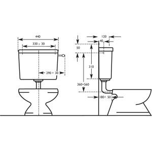 Cassetta di scarico WC