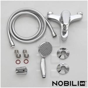 Rubinetto Vasca Nobili serie Italia Cromo con kit montaggio