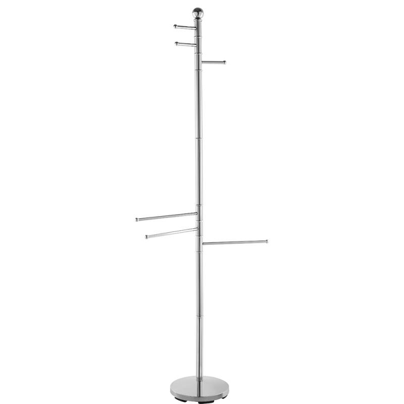 Piantana per Accappatoio alta 177 cm con 6 Bracci in Acciaio Cromato