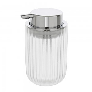 Dispenser sapone bianco trasparente