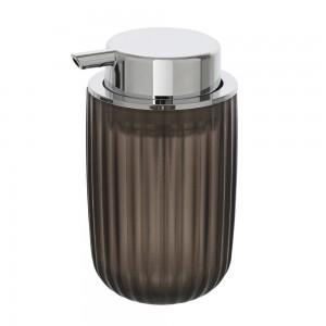 Dispenser sapone nero effetto fume trasparente cromo