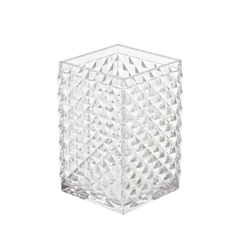 Portaspazzolino d'appoggio bianco trasparente