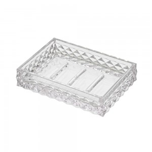 Porta sapone bianco trasparente in plastica