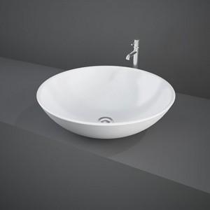 Lavabo da appoggio Tondo modello Diana bianco Rak Ceramiche