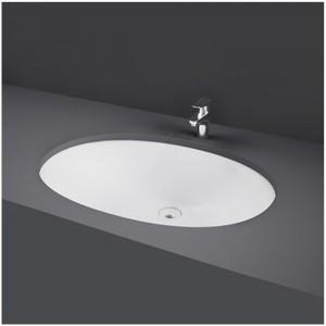 Lavabo sottopiano ovale bianco modello Rosa Rak Ceramics