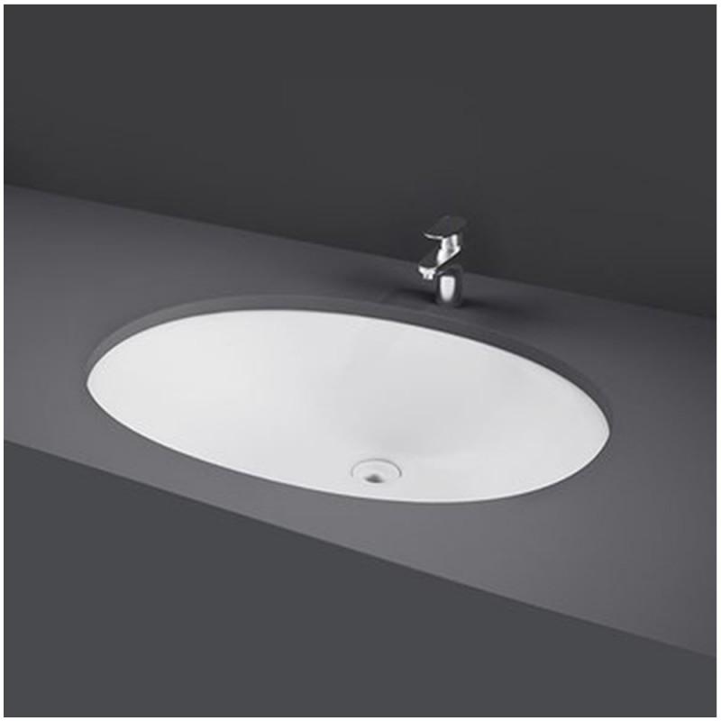 Lavabo Sottopiano Ovale 57L x 42P cm Bianco Modello Rosa Rak Ceramiche