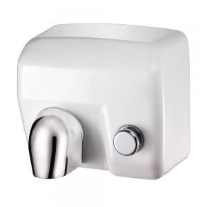 Asciugamani Elettrico con Pulsante 2400W Vama Ariel BP Acciaio Bianco
